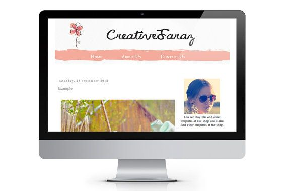 Colorful   Premade Blogger Template by ONESMFA on Etsy, $25.00