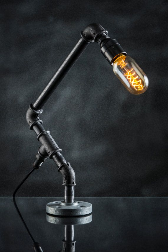 Best 20 pipe lamp ideas on pinterest for Diy pipe lamp