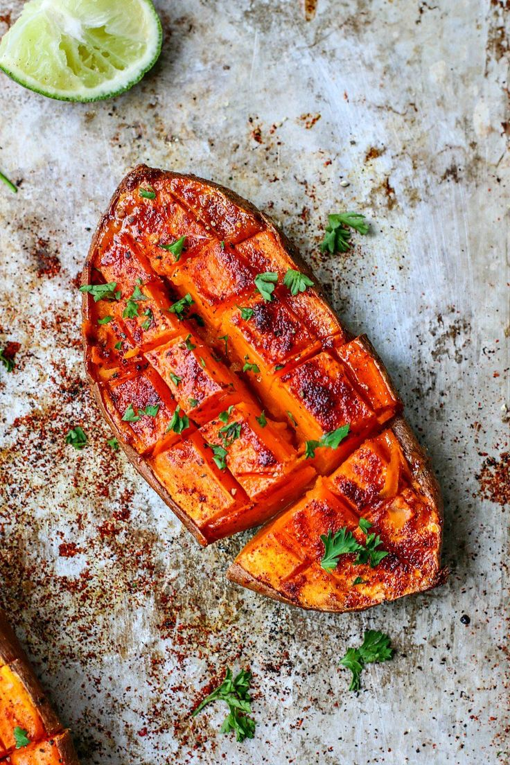 Chili + Honey Roasted Sweet Potatoes With Lime Juice   Killing Thyme