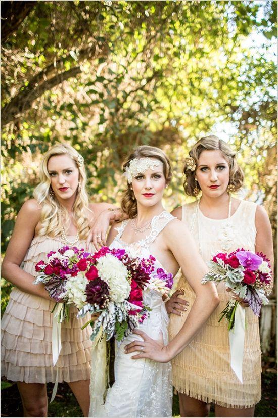 roaring twenties bridal ideas #roaring20wedding #20shairstyles #weddingchicks http://www.weddingchicks.com/2014/01/02/easy-roaring-20s-wedding-ideas/
