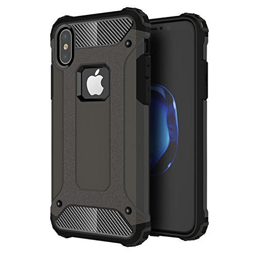 iPhone X Case JTCTC iPhone 10 Case Full Body Military Grade Extreme Protective Hybrid Bumper Armor Case with Drop Protection Shatter Resistant and Scratch Resistant for Apple iPhone X (Black)