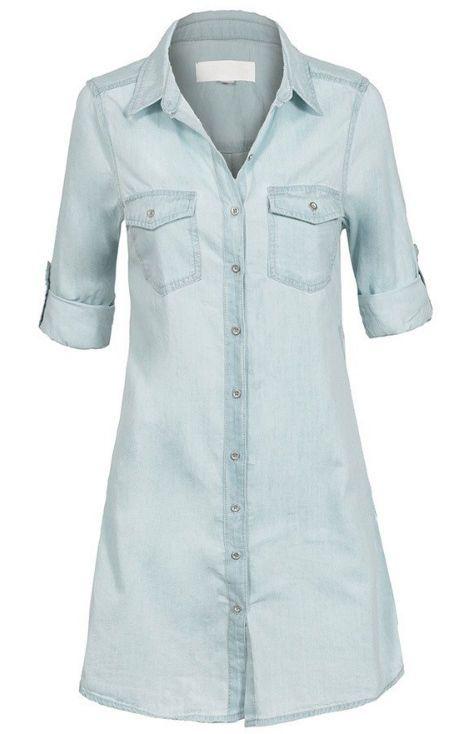 Women's Wax Jean Light Indigo Chambray Denim Button Down Shirt Dress 1X-2X-3X     | eBay