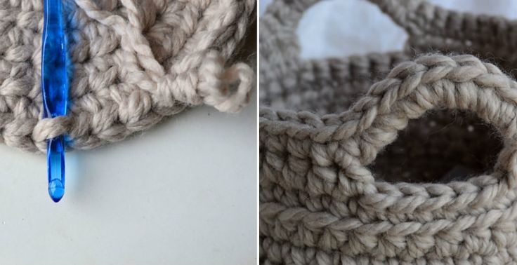 Use bulky yarn to make a nice basket!