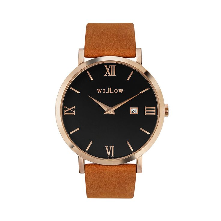 Roma Rose Gold Watch & Interchangeable Tan Vegan Strap.