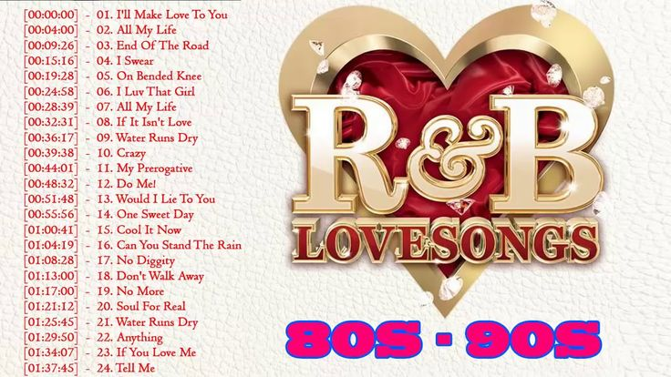 R&B Love Songs 80's 90's Playlist ♥♥♥♥ Best Of R&B Love