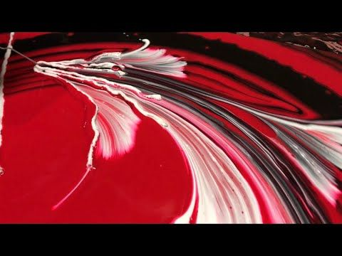 Acrylic liquid paint STRING SWIPE? Wigglz Art Awesome results, please share! Recipe in the description. – YouTube