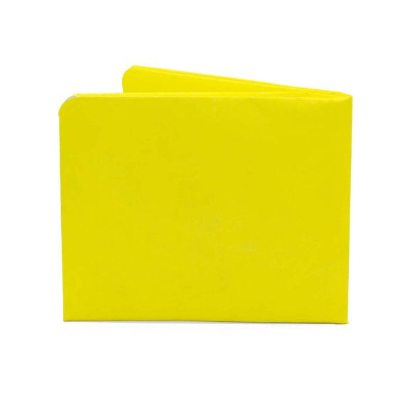 Paper-Thin Wallet Unisex for Men & Women - Bright Yellow Design - Made in Tyvek - Eco-friendly and 100% Recyclable