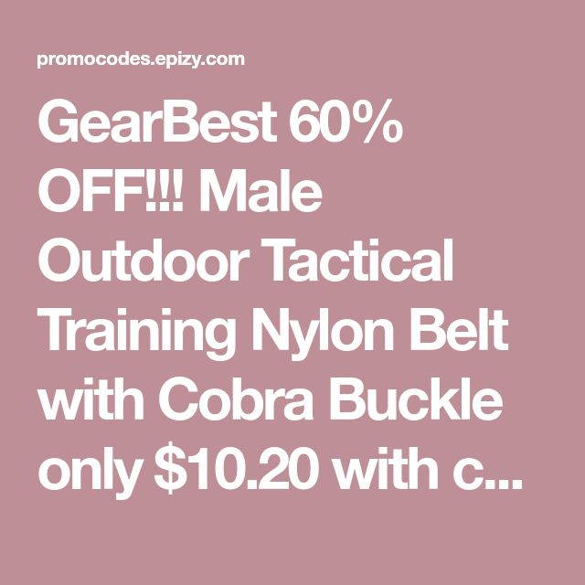 GearBest 60% OFF!!! Male Outdoor Tactical Training Nylon Belt with Cobra Buckle only $10.20 with coupon