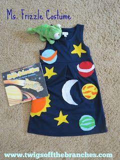 DIY Ms. Frizzle Magic School Bus costume