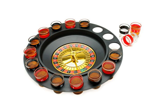 Drinking game for those who like to gamble:  Spin N' Shot Roulette