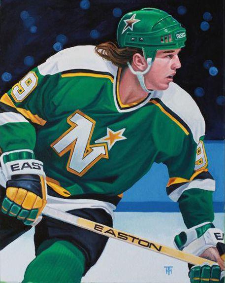 Mike Modano, Minnesota North Stars by Tony Harris