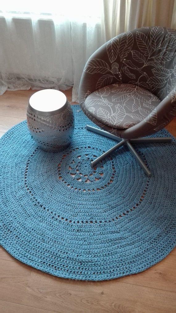 Marl blue crochet carpet SALE