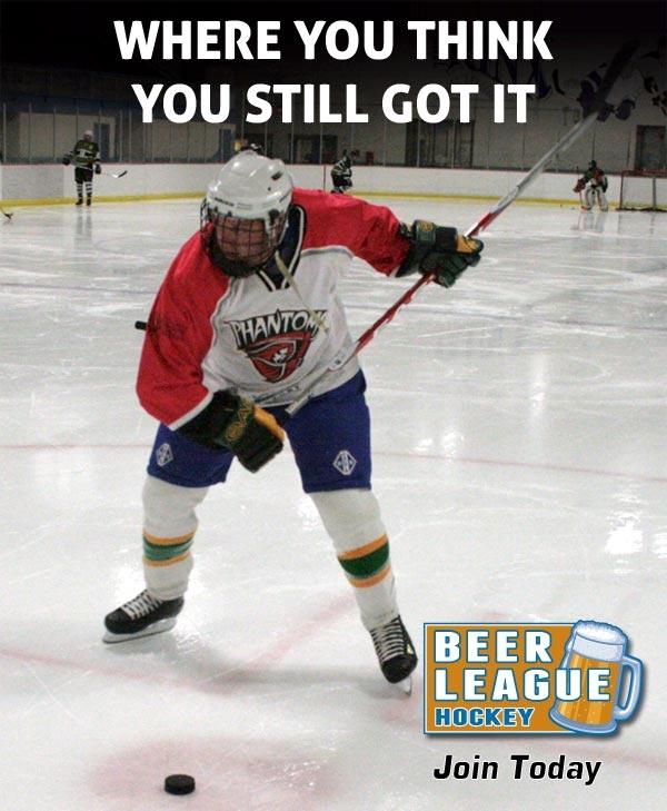 Ligue de garage : lequel êtes-vous? - Balle Courbe   Beer League Hockey Sayings
