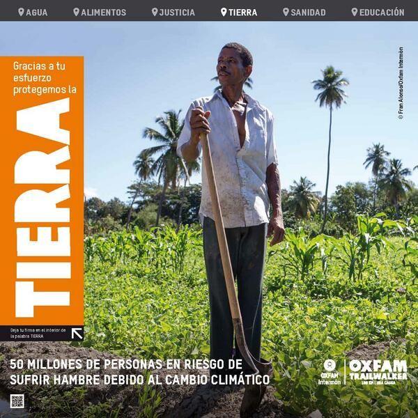 En el Pto de Morcuera los equipos firman la lona del problema del cambio climatico y Rep. Dominicana #OITW