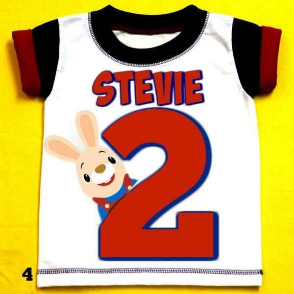 Harry the Bunny Personalized Boy Birthday Shirt