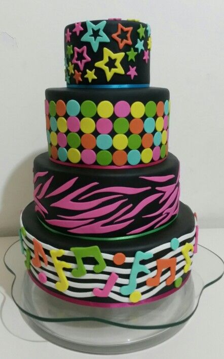 The 10 best images about nen cake on Pinterest Neon Birthday