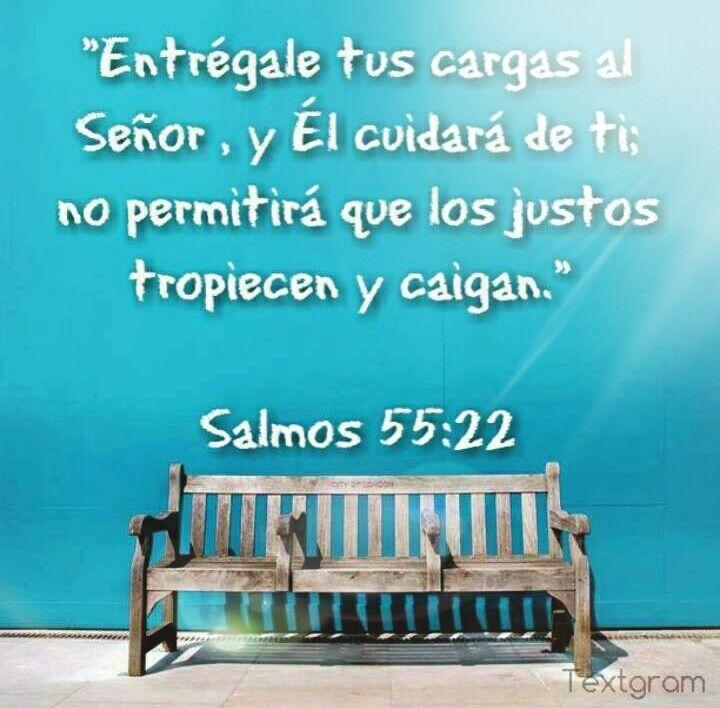 SALMO 55:22  #DiosTeAmaayPeleaporsusHijos...