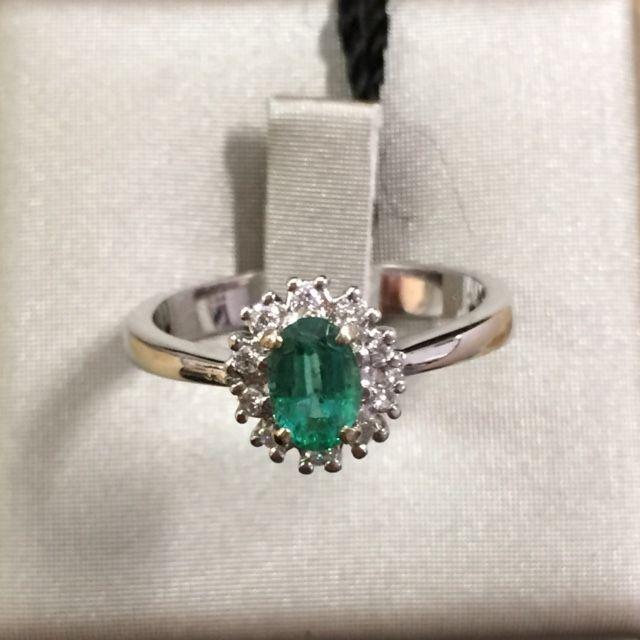 Anello con smeraldo e diamanti!!!