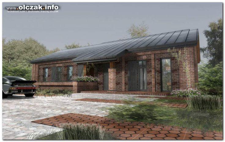 Architekt Maciej Olczak - projekt domu z czerownej cegly