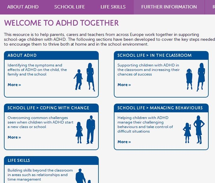 ADHD Together - Shire Pharmaceuticals, ADHD Europe and the ADHD Awareness  Taskforce - Includes activities