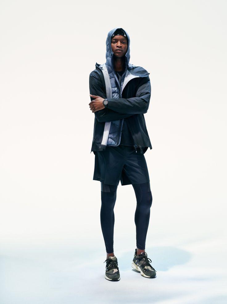 Civil Active Jacket, Helium Hood Printed Jacket, Fremont Shorts and Block Reflective Tights