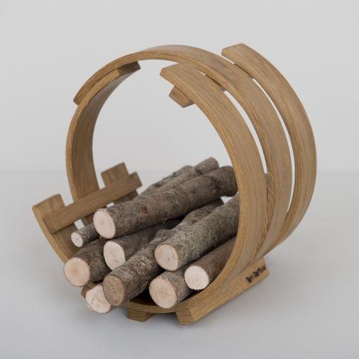 Kindling Loop Wood Basket   Tom Raffield