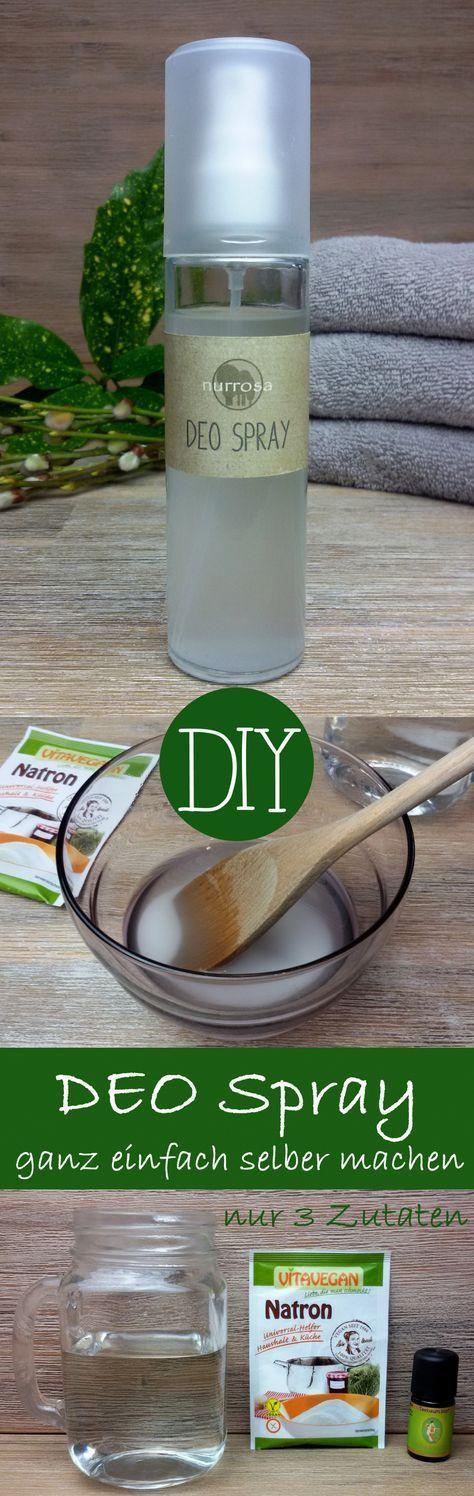 DEO SPRAY ganz einfach selber machen, ohne Aluminium und Alkohol Ich mache meine Deodorants jetzt selber, weil mir die vielen Inhaltsstoffe in den käuflichen Deodorants teilweise zweifelhaft (Alumi…