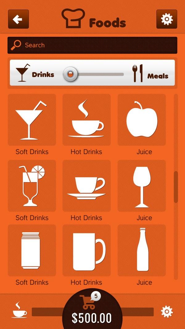 Food Web Apps by Mukhtar Rizvi, via Behance