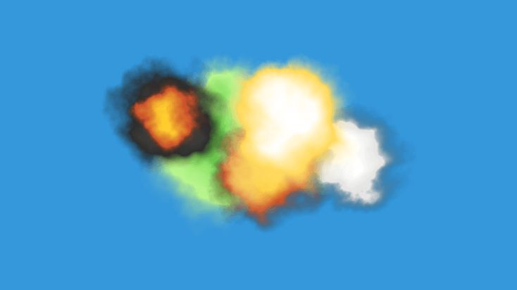 A small pack of smoke particles, something you normally wouldn't expect from me but hey - here they are! There's 77 of them in 5 styles; Black smoke, explosion, fart, flash and white puff.