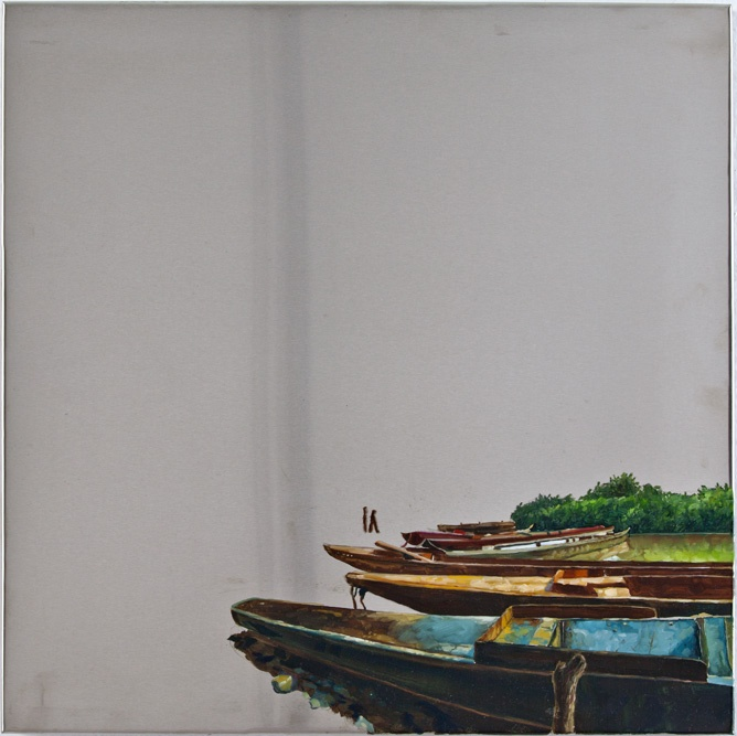 Sair García, Magdalena Series, 2013, oil on steel, 40 x 40 cm.