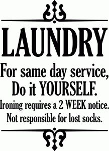 Silhouette Design Store - View Design #93065: laundry same day service