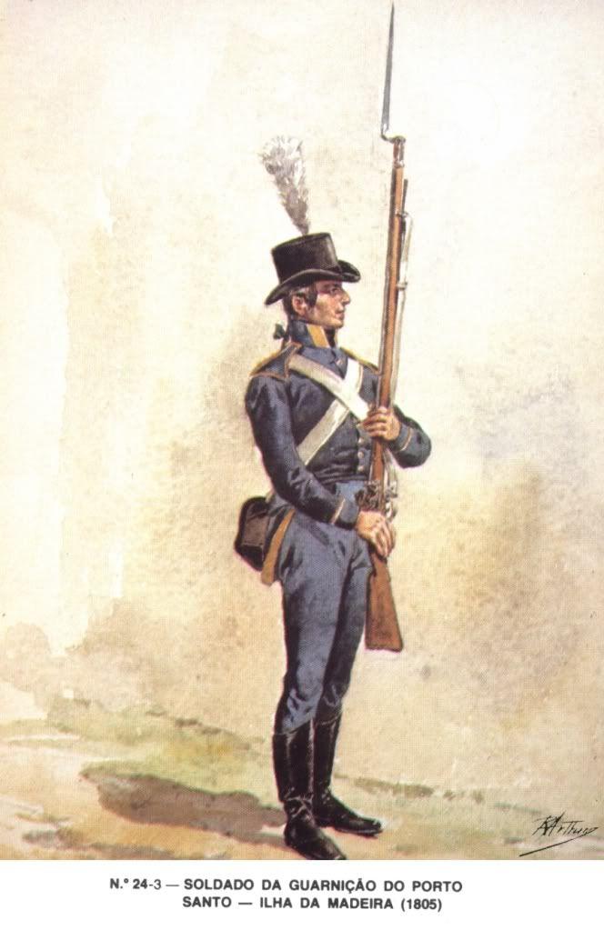 .Soldat Portugais de la Garnison de PORTO SANTO (ile de MADERE) 1805