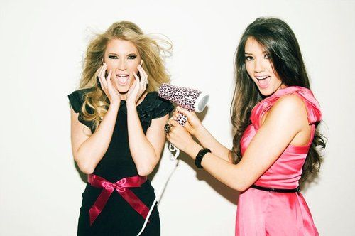 I love them! Blair and Elle Fowler! Look them up on Youtube! They have beauty and blog videos! http://www.tuberads.com