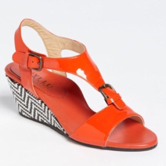 "Spotted while shopping on Poshmark: ""Anyi Lu orange Wedge Sandals Made in Italy""! #poshmark #fashion #shopping #style #Anyi Lu #Shoes"