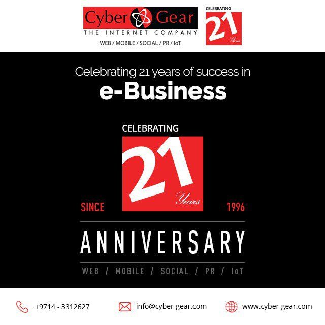 21 years and counting! http://www.cyber-gear.com  #Dubai #Digital #Webdesign #IoT #PR #ecommerce