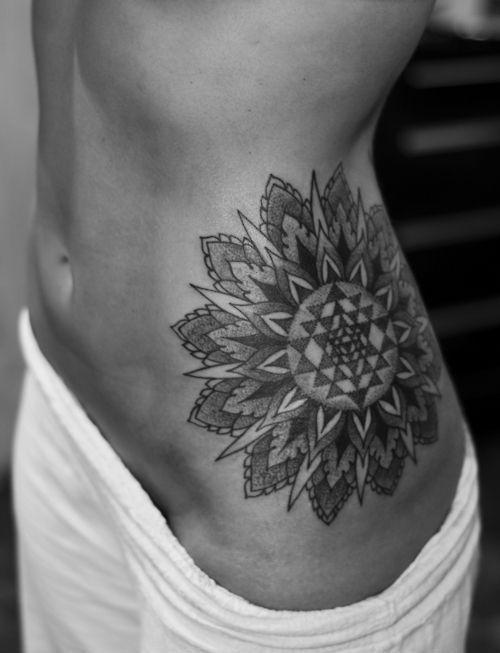 Classical Mandala Tattoo. Like the placement and shape.