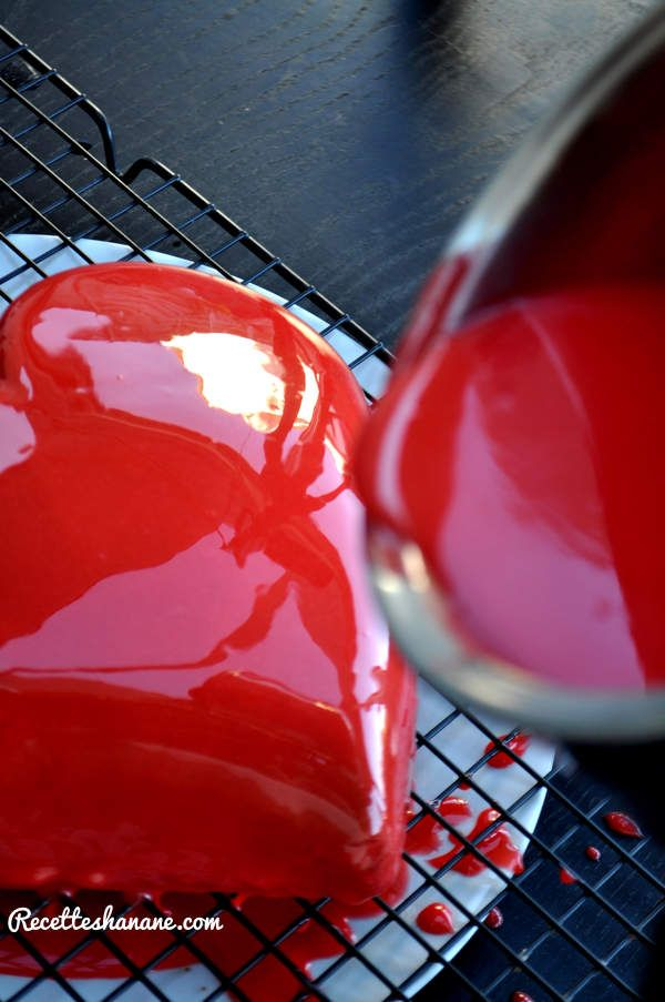 1000 ideas about gla age miroir on pinterest gateau for Glacage miroir framboise