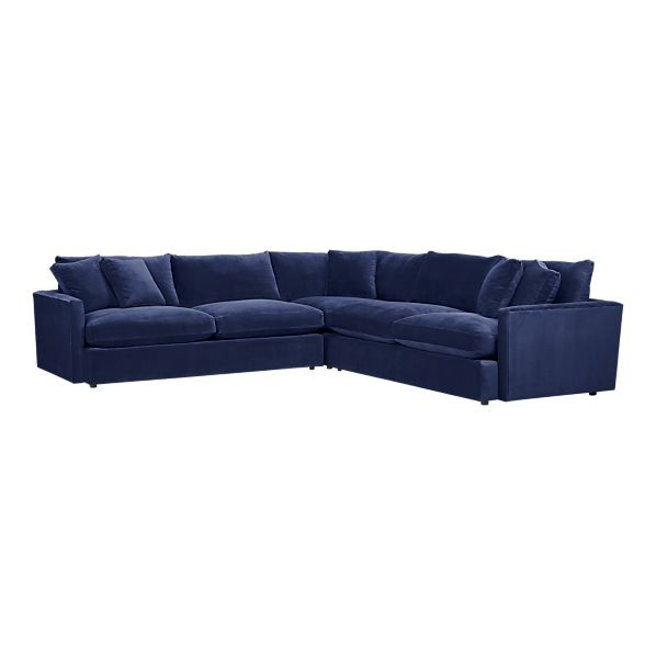 Navy Velvet Sectional For The Living Room Home Sweet