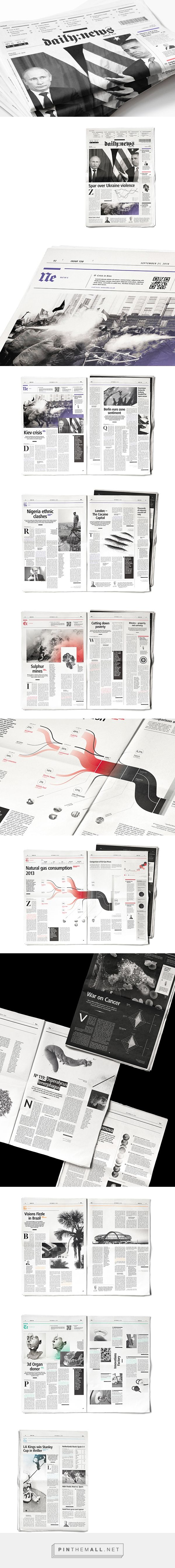 Daily:News paper on Behance... - a grouped images picture - Pin Them All