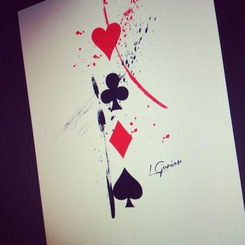 Algumas pinceladas • naipes #naipes #cards #cartas #tattoo #tatuagem #aquarela #aquarelatattoo #trashpolka