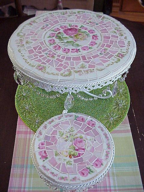 mosaic cake pedestals