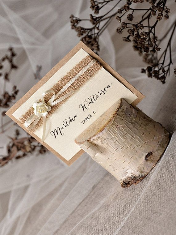 Custom listing 20 Rustic Place Card Holder by forlovepolkadots