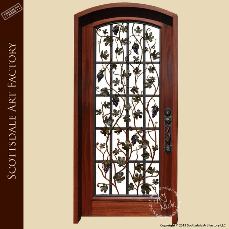 Custom Wood And Iron Door Arched Top Wood Door With