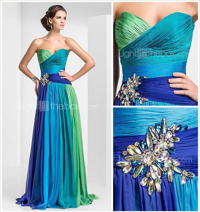 Sheath/Colum Sweetheart Floor-length Chiffon Evening Dress - USD $ 249.99 @Samantha... Love this one for you.