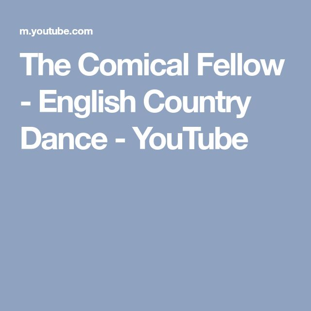 The Comical Fellow - English Country Dance - YouTube