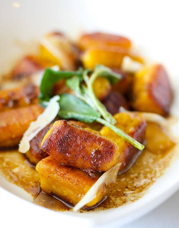 Pan-Fried Pumpkin Gnocchi with Brown Butter Sage ~ http://steamykitchen.com