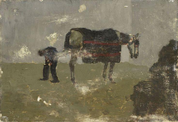 George Hendrik Breitner - Smid met grijs paard
