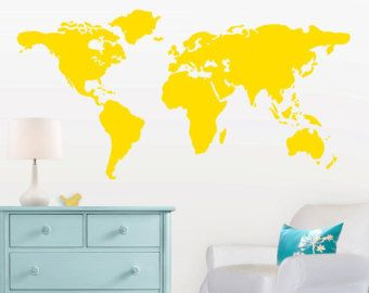 World map decal trendy world map wall sticker text kids educational amazing baby nursery wall decal large world map nursery wall decal feet wide world map decal nursery wall map with world map decal gumiabroncs Image collections