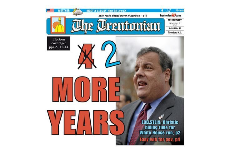 And the Post showed restraint. The Best Post-Election Newspaper Front Page Goes to the Trentonian