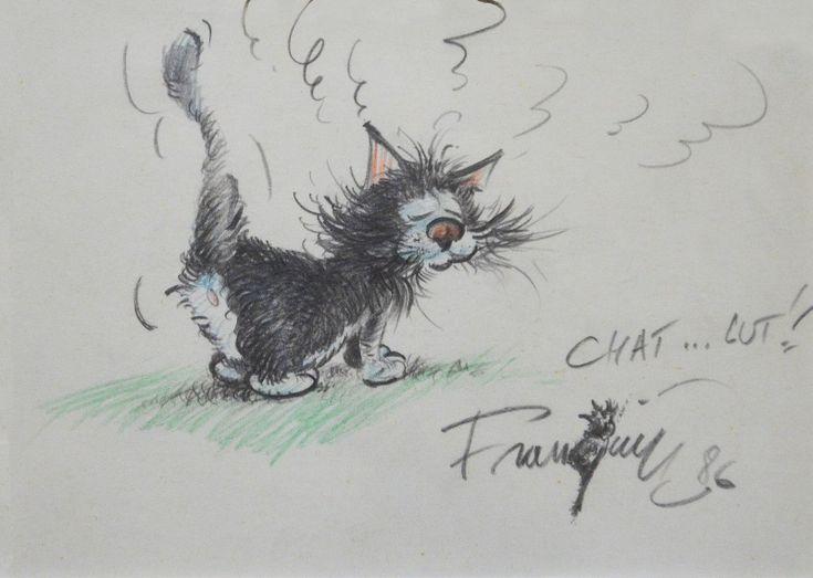 Chat.....lut !!! par André Franquin - Dédicace